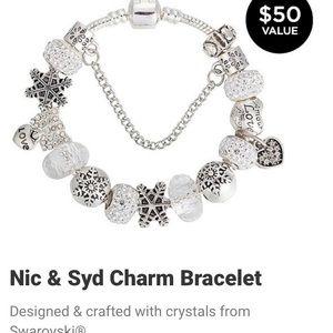 NIC & SYD Silver  Charm Bracelet